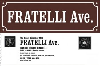 Revelion 2011 în Fratelli Studios din Bucureşti