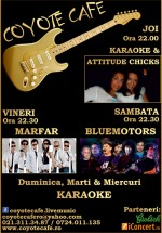Concerte şi karaoke la Coyote Cafe din Bucureşti