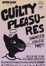 Guilty Pleasures în Booha Bar din Cluj-Napoca