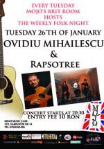 Concert Ovidiu Mihailescu & Raspotree în Club Mojo-Brit Room din Bucureşti