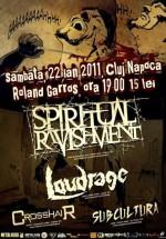 Concert Spiritual Ravishment, Loudrage, Crosshair & Subcultura la Roland Garros din Cluj-Napoca