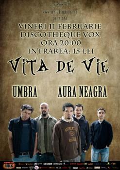Concert Viţa de Vie, Aura Neagra & Umbra la Discotheque Vox din Suceava