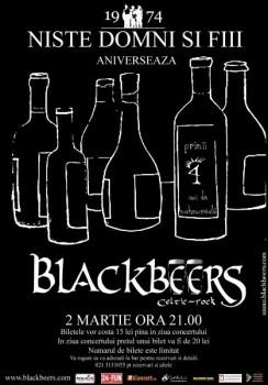 Concert Blackbeers în Nişte Domni şi Fiii din Bucureşti