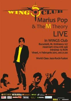 Concert Marius Pop & The M Theory în Wings Club din Bucureşti