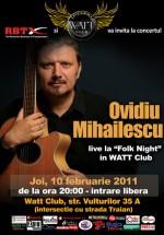 Concert Ovidiu Mihăilescu în Watt Club din Bucureşti