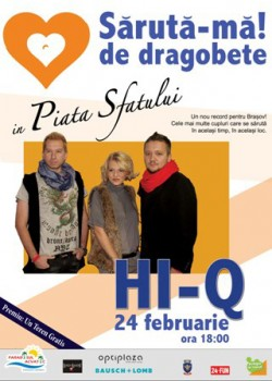 """Concert Hi-Q la """"Sărută-mă de Dragobete"""" în Piaţa Sfatului din Braşov"""
