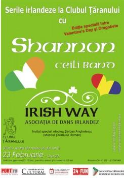 Seară irlandeză cu Shannon şi Irish Way la Clubul Ţăranului din Bucureşti