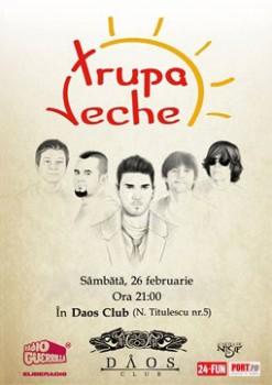 Concert Trupa Veche în Club Daos din Timişoara
