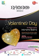 Valentine's Day în Club Bamboo din Braşov