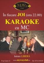 Karaoke cu MC în Club My Way din Cluj-Napoca