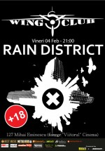 Concert Rain District în Wings Club din Bucureşti