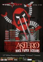 Concert Astero şi Rock Paper Scissors în Wings Club din Bucureşti