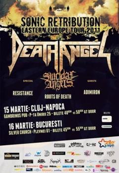 Concert Death Angel şi Suicidal Angels în The Silver Church din Bucureşti