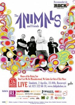 Concert The Animals & Friends în Jukebox Club din Bucureşti