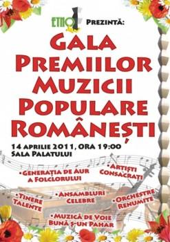 Gala Premiilor Muzicii Populare Româneşti la Sala Palatului din Bucureşti