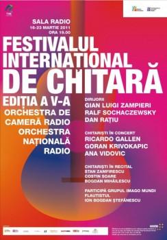 Festivalul Internaţional de Chitară la Sala Radio Bucureşti