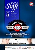 Partydul Kiss Fm în Skye Club din Iaşi