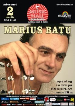 Concert Marius Baţu în Music Hall din Bucureşti