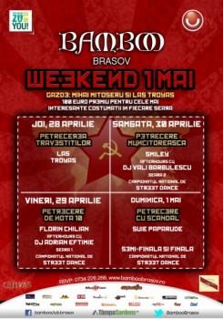 Weekend 1 mai în Club Bamboo Braşov