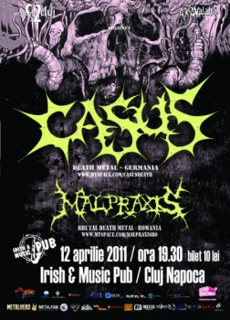 Concert Casus & Malpraxis în Irish & Music Pub din Cluj-Napoca