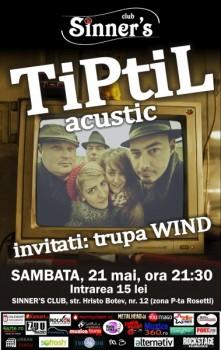 Concert TiPtiL în Sinner's Club din Bucureşti