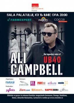 Concert Ali Campbell (UB40) la Sala Palatului din Bucureşti