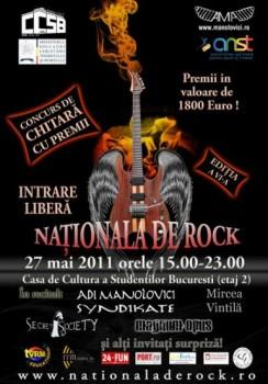 Naţionala de Rock la Casa de Cultură a Studenţilor din Bucureşti