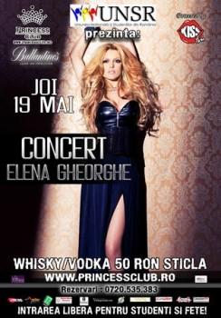 Concert Elena Gheorghe în Princess Club din Bucureşti