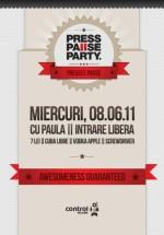 Press Pause Party cu Paula în Club Control din Bucureşti