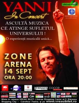 Concert Yanni la Bucureşti