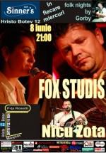 Concert Fox Studis şi Nicu Zota în Sinner's Club din Bucureşti