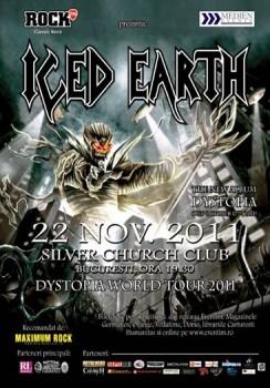 Concert Iced Earth în The Silver Church din Bucureşti