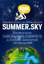 BAHA Party Summer.Sky în Parcul Tei din Bucureşti