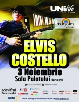 Concert Elvis Costello la Sala Palatului din Bucureşti