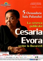 Concert Cesaria Evora la Sala Palatului Bucureşti – ANULAT