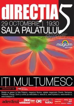 Concert Direcţia 5 la Sala Palatului Bucureşti