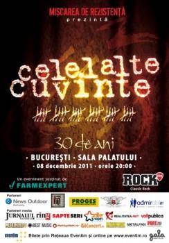 Concert Celelalte Cuvinte la Sala Palatului din Bucureşti