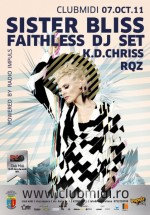 Sister Bliss (Faithless) în Club Midi din Cluj-Napoca