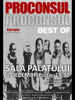 Concert Proconsul la Sala Palatului din Bucureşti
