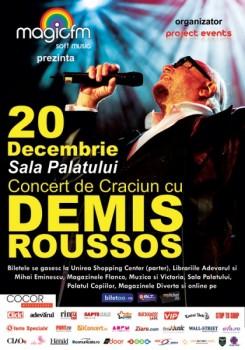 Concert Demis Roussos la Sala Palatului din Bucureşti