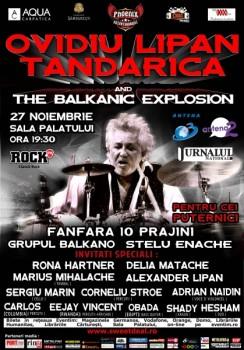Concert Ovidiu Lipan Ţăndărică and The Balkanic Explosion la Sala Palatului din Bucureşti