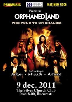 Concert Orphaned Land în The Silver Church din Bucureşti
