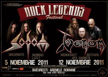 Festivalul Rock Legends 2011 la Arenele Romane din Bucureşti