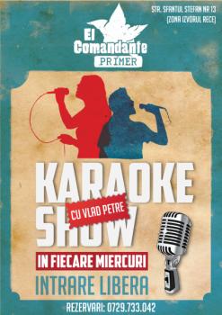 Karaoke Show cu Vlad Petre în El Primer Comandante din Bucureşti