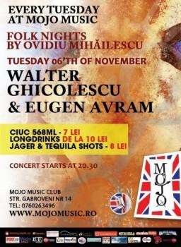 Concert Walter Ghicolescu şi Eugen Avram în Mojo Brit Room din Bucureşti