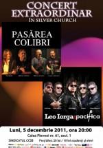 Concert Pasărea Colibri, Leo Iorga & Pacifica în The Silver Church din Bucureşti