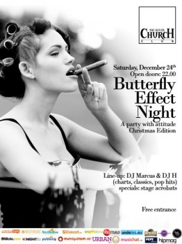Butterfly Effect Night – Christmas Edition în The Silver Church din Bucureşti