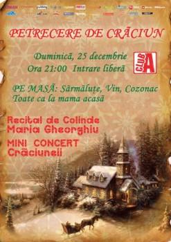 Petrecere de Crăciun în Club A din Bucureşti