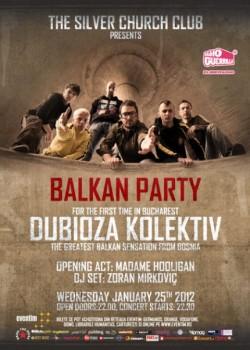 Concert Dubioza Kolektiv în The Silver Church din Bucureşti