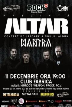 Concert Altar – lansare album în Club Fabrica din Bucureşti